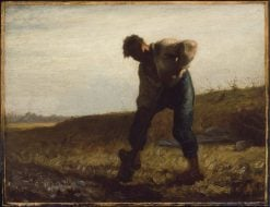 Man Turning Over the Soil   Jean Francois Millet   Oil Painting