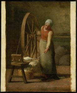 Standing Spinner | Jean Francois Millet | Oil Painting