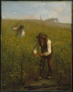 In the Vineyard   Jean Francois Millet   Oil Painting