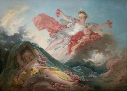 Aurora Triumphing over Night | Jean HonorE Fragonard | Oil Painting