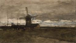 A Windmill in Holland | Johan Hendrik Weissenbruch | Oil Painting