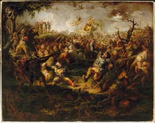 A Battle Scene from Knickerbocker's History of New York | John Quidor | Oil Painting