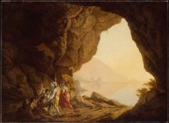 Grotto by the Seaside in the Kingdom of Naples with Banditti