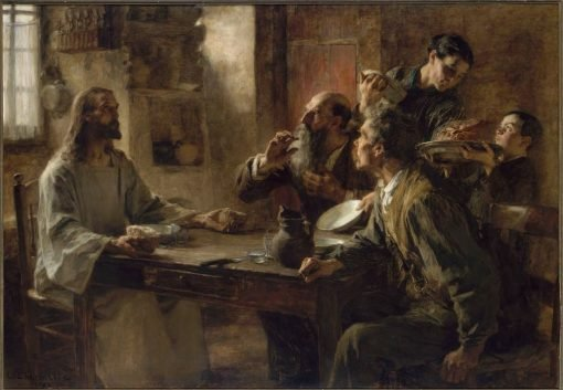 Friend of the Humble(also known as Supper at Emmaus) | LEon Augustin Lhermitte | Oil Painting