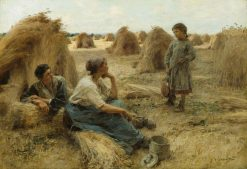 Wheatfield(also known as Noonday Rest) | LEon Augustin Lhermitte | Oil Painting