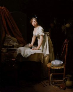 Young Woman Ironing | Louis LEopold Boilly | Oil Painting