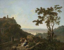 Tivoli and the Roman Campagna with a Man and Woman | Richard Wilson
