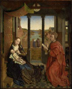 Saint Luke Drawing the Virgin | Rogier van der Weyden | Oil Painting