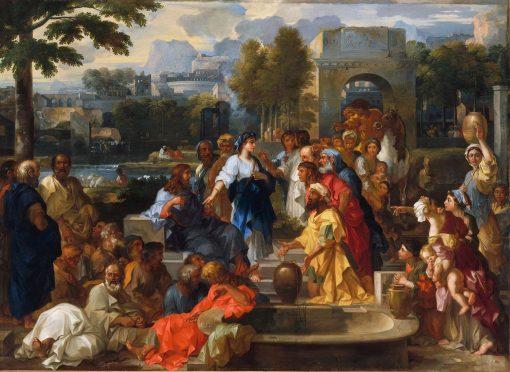 Christ and the Samaritan Woman | Sebastien Bourdon | Oil Painting