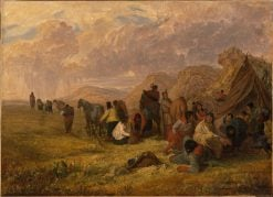 Souix Indians Breaking Up Camp | Seth Eastman | Oil Painting