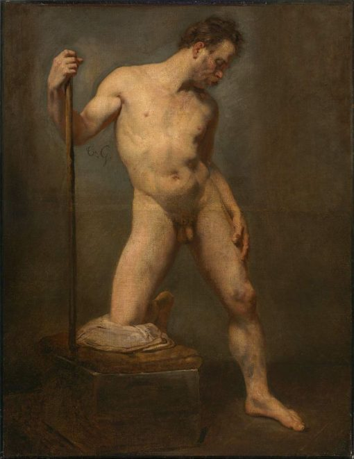 Study of a Male Nude | ThEodore GEricault | Oil Painting