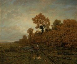 Gathering Wood in the Forest of Fontainebleau | ThEodore Rousseau | Oil Painting