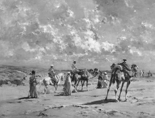 Arabs on the March | Victor Huguet | Oil Painting