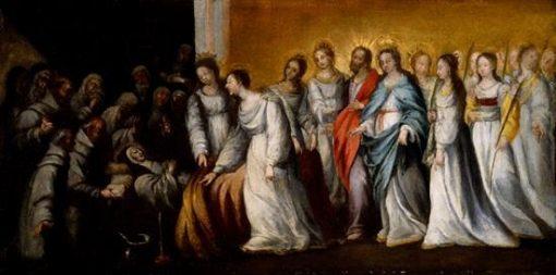 Death of Saint Clare   BartolomE Esteban Murillo   Oil Painting