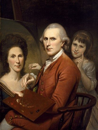 Self-Portrait with Angelica and Portrait of Rachel | Charles Willson Peale | Oil Painting