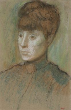 Head of a Woman | Edgar Degas | Oil Painting