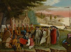 Penn's Treaty with the Indians   Edward Hicks   Oil Painting