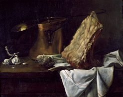 Still Life with Meat   Francois Bonvin   Oil Painting