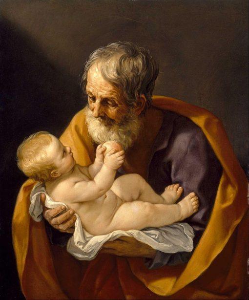 Saint Joseph and the Christ Child | Guido Reni | Oil Painting