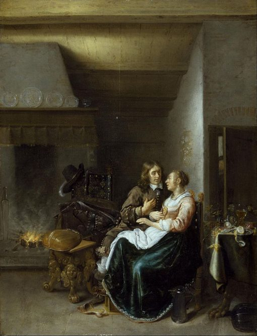 Couple in an Interior | Jan Miense Molenaer | Oil Painting