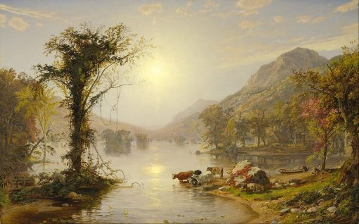 Autumn on Greenwood Lake | Jasper Francis Cropsey | Oil Painting
