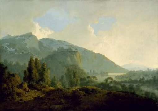 Italian Landscape with Mountains and a River | Joseph Wright of Derby | Oil Painting