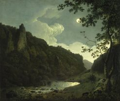 Dovedale by Moonlight | Joseph Wright of Derby | Oil Painting