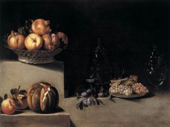 Still Life with Fruit and Glassware | Juan van der Hamen | Oil Painting