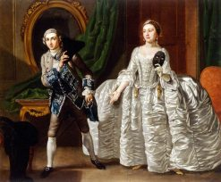 David Garrick and Hannah Pritchard in a Scene from 'Suspicious Husbands' | Francis Hayman | Oil Painting
