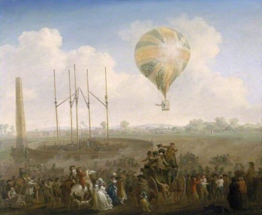 The Ascent of Lunardi's Balloon from St George's Fields