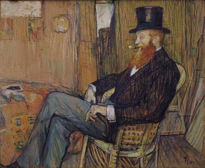 M. de Lauradour   Henri de Toulouse Lautrec   Oil Painting
