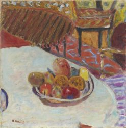 Table with Bowl of Fruit | Pierre Bonnard | Oil Painting