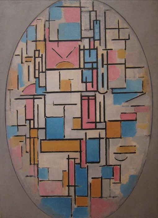 Composition in Oval with Color Planes 1   Piet Mondriaan   Oil Painting