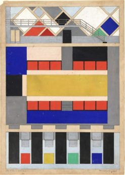 Color Design for Floor and Two Long Walls of ciné-dancing in the Aubette