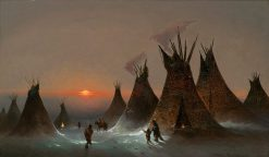 Indian Encampment in Winter | Jules Tavernier | Oil Painting