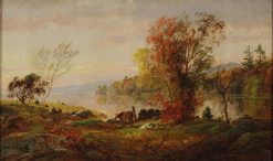 Hastings-on-Hudson | Jasper Francis Cropsey | Oil Painting