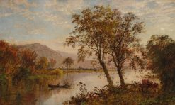 View on the Hudson River | Jasper Francis Cropsey | Oil Painting