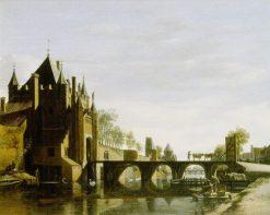 Grote Houtpoort at Haarlem | Gerrit Adriaensz.Berckheyde | Oil Painting