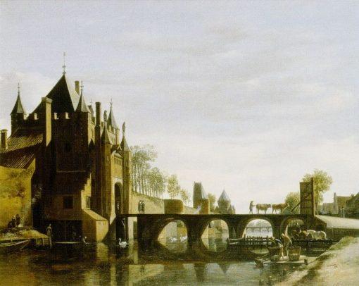 Grote Houtpoort at Haarlem   Gerrit Adriaensz.Berckheyde   Oil Painting