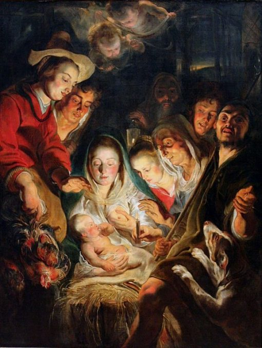 Adoration of the Shepherds | Jacob Jordaens | Oil Painting