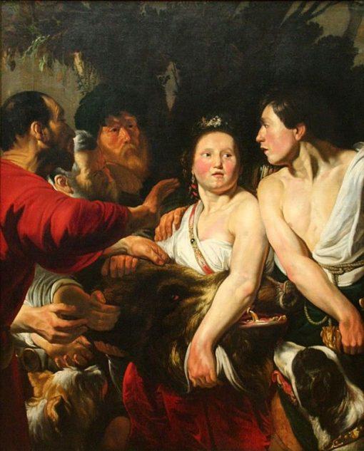 Meleager and Atalanta   Jacob Jordaens   Oil Painting