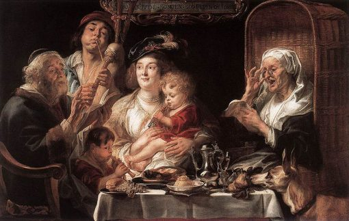 As the Old Sang the Young Play Pipes | Jacob Jordaens | Oil Painting