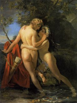 The Nymph Salmacis and Hermaphroditus | Francois Joseph Navez | Oil Painting