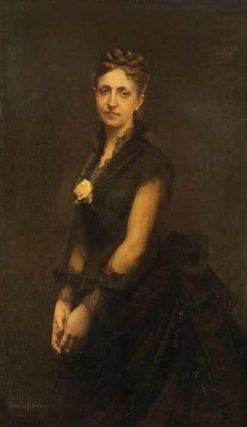 Portrait of the Wife of Oswald de Kerchove | Jules Joseph Lefebvre | Oil Painting