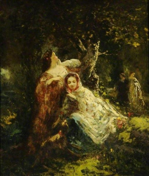 Echo in the Wood | Adolphe Joseph Thomas Monticelli | Oil Painting