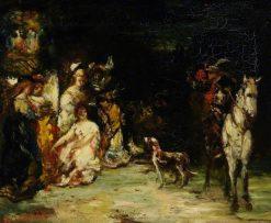 Figure Composition   Adolphe Joseph Thomas Monticelli   Oil Painting