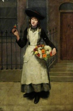 London Flower Girl | Albert Goodwin | Oil Painting