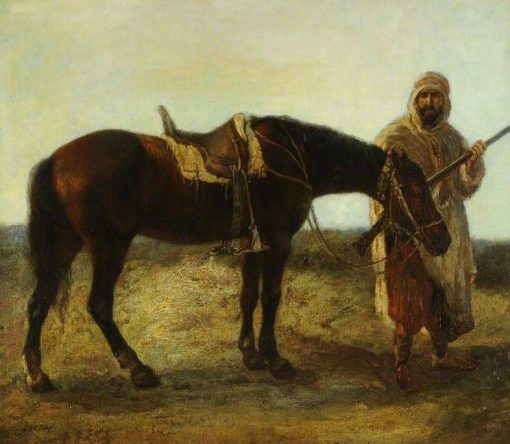 An Arab and His Steed | Alexandre Gabriel Decamps | Oil Painting