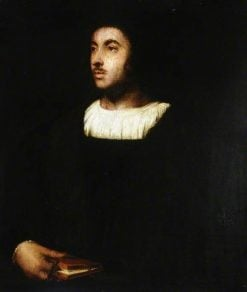 A Venetian Gentleman at Hampton Court (after Titian) | Alfred George Stevens | Oil Painting