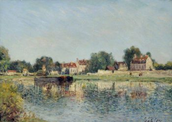 Le Barrage at Saint-Mammes | Alfred Sisley | Oil Painting